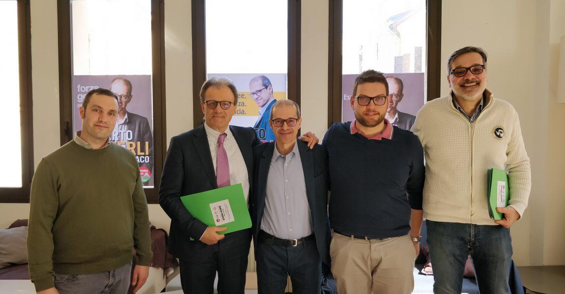 Conferenza stampa di presentazione della coalizione  per Roberto Ganzerli candidato a Sindaco di Mirandola